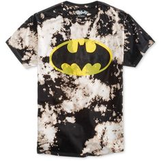 Bioworld Men's Batman Tie-Dyed Graphic-Print Cotton T-Shirt ($15) ❤ liked on Polyvore featuring men's fashion, men's clothing, men's shirts, men's t-shirts, shirts, tops, black, mens tie dye shirts, mens logo t shirts and mens tie dyed t shirts