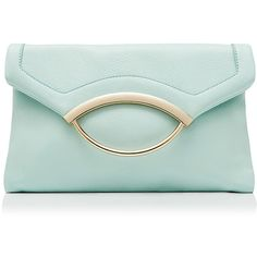 Forever New Sweet Sorbet Clutch ($21) ❤ liked on Polyvore featuring bags, handbags, clutches, purses, bolsas, man bag, fold over purse, green purse, foldover purse and green handbags