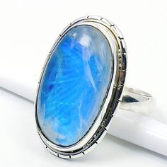 'Blue Lagoon' Sterling Silver Moonstone Ring, Size 7  Price : $46.75 http://www.silverplazajewelry.com/Blue-Lagoon-Sterling-Silver-Moonstone/dp/B00EZE15II