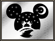 Mickey head, Disney couple SVG DXF Png Layered Cut File Cricut Designs Silhouette Cameo, Vinyl Decal Heat Transfer Iron on - Tattoo Models Silhouette Mickey Mouse, Silhouette Cameo Vinyl, Silhouette Cameo Projects, Disney Diy, Disney Crafts, Disney Mickey, Disney Frozen, Disney Alphabet, Cricut Vinyl