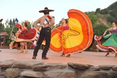 Cast members dance and sing during the opening night performance of Texas in Palo Duro Canyon Tuesday, June 2, 2015.Texas is celebrating it's 50th season this year. Photo by -- Michael Schumacher Amarillo Globe-News