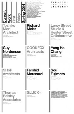 The Architectural League Spring Events