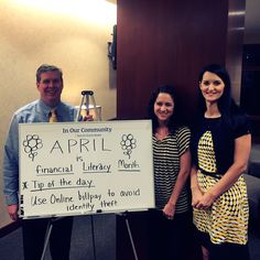Our Spartanburg, SC branch decorated their community board for Financial Literacy Month.