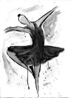 Bailarina (Releitura) #nanquim