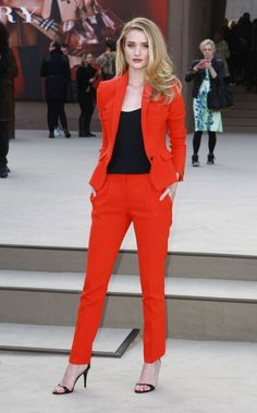 Attending the Burberry Prorsum show during London Fashion Week Fall/Winter in 2013. See all of Rosie Huntington-Whiteley's best looks.