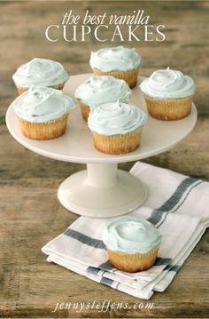 Jenny Steffens Hobick: The Best Vanilla Cupcakes with Vanilla Buttercream