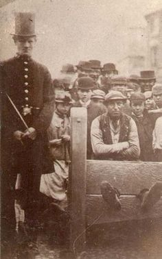 An 1865 photograph of William Jarvis, in the stocks for six hours for insobriety! Stocks were in use until 1837 when they was abolished in Britain on this day 20th June.