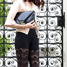 Emily Highfield looking effortlessly elegant with the Paris clutch #myRM