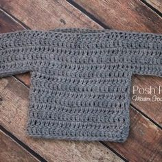 A cute and easy Free Baby Sweater Crochet Pattern!