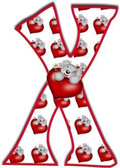 Alfabeto de Tatty con corazones.   Oh my Alfabetos!