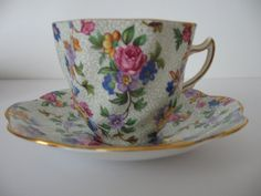 Warwick Chintz Pattern  Bone China Cup and by TheCottageofContent, $25.00