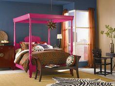 chambre ado fille lit en rose