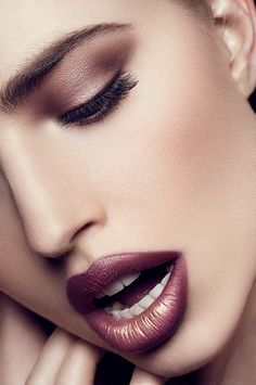 Great eye and lip color.