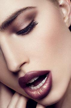 Beautiful Marsala Makeup Inspiration