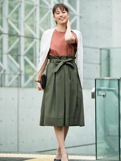 Dress for the occasion this Mother's Day in our feminine, High Waist Belted Flare Midi Skirt.