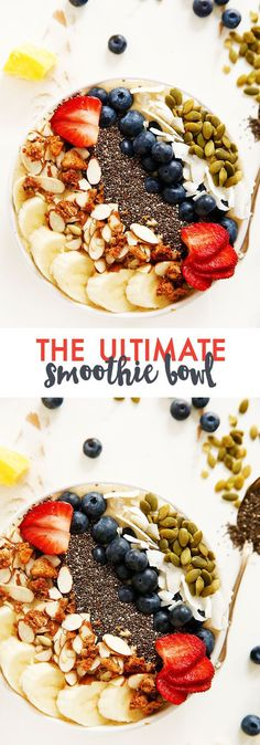 Banana Mango Smoothie Bowl | Lexi's Clean Kitchen #glutenfree #paleo #vegan