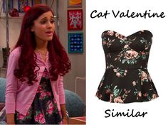 Cat Valentine wear this Pins and NeedlesStrapless Elastic-Back Peplum Top, similar to thisFULL TILT Floral Womens Peplum Tube Top, in the ...  **Make sure you check out www.allaboutsamandcat.com for more posts!