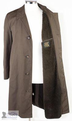 M&S St MICHAEL Brown Maxi Long Brown Fur Showerproof Overcoat Jacket Coat 40' M>>