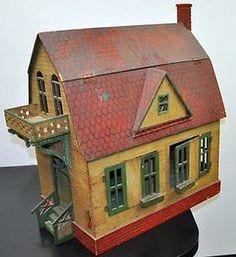 Antique Folk-Art Handmade Dollhouse.