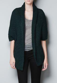 b712a761ad6 dark green knit cardigan Green Cardigan Outfit