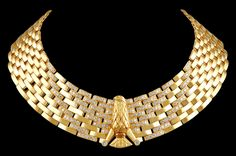 CARTIER Diamond Horus Falcon Necklace