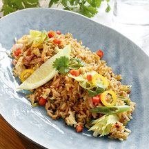 Nasi Goreng - 4 port - 7pp/port Pork Recipes, Baking Recipes, Diet Recipes, Healthy Recipes, Nasi Goreng, Surf And Turf, Lunches And Dinners, Love Food, Food Porn