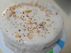 C Mom Cook: Sourdough Carrot Cake with Coconut Glaze