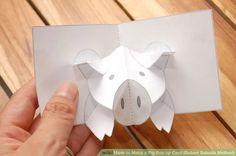 Image titled Make a Pig Pop up Card (Robert Sabuda Method) Step 32 POP Up Animals