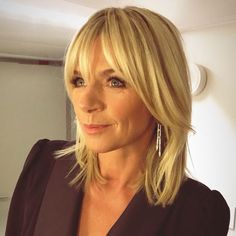 Hair goals, beautiful Zoe Ball - Hairstyles For All Medium Hair Styles, Short Hair Styles, Hair Medium, Ball Hairstyles, Blonde Fringe Hairstyles, 2015 Hairstyles, Casual Hairstyles, Celebrity Hairstyles, Weave Hairstyles