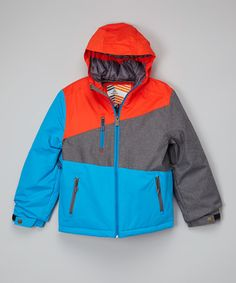 Love this Cloisonne Blue & Orange Cale Jacket - Kids by Firefly on #zulily! #zulilyfinds