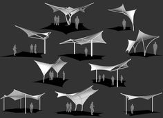 Tensile Shade Products, LLC is a producer of pre-engineered tensile sculpture products. Our line of tensile sculpture products include Sunbird, Sunbow, Sunami and Eclipse. Pavilion Architecture, Concept Architecture, Architecture Design, Fabric Structure, Shade Structure, Landscape Elements, Landscape Design, Membrane Structure, Tensile Structures
