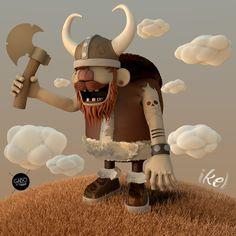 Go Vikings  Colaboración:     Gabo Galicia (Ilustración)   Ikel (Arte 3D)