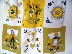 Austrian Folk Vintage Apron by ReliveRetro on Etsy
