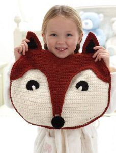 Fantastic Fox Pillow - great crocheted pillow for kids