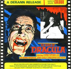 Scars of Dracula Super 8 film box Jenny Hanley, Super 8 Film, 8mm Film, Hammer Films, Two Movies, Famous Monsters, Classic Monsters, Dracula, Film Movie