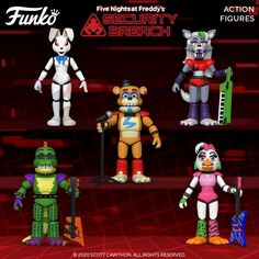 Five Nights At Freddy's, Fnaf Action Figures, Vinyl Figures, Fnaf Theories, Chibi, Fnaf Wallpapers, Funko Pop Exclusives, Funtime Foxy, Funko Mystery Minis