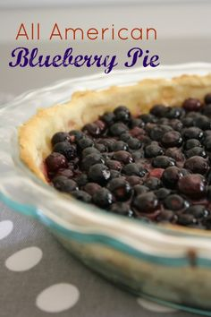 All American Blueberry Pie