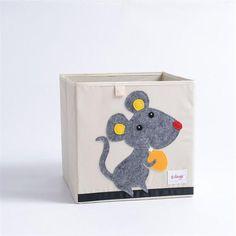 Cube storage box - mouse Fabric Storage Boxes, Toy Storage Boxes, Book Storage, Cube Storage, Storage Organization, Toy Boxes, Storage Ideas, Large Laundry Basket, Underwear Storage