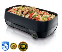 New Philips HD6324 BBQ Indoor Electric grill Ribbed/Smooth Duo Plate tray 3 in 1 #Philips