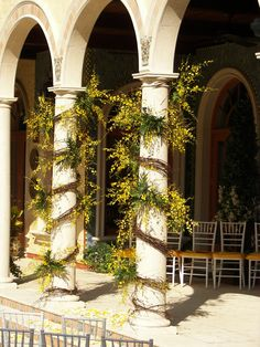 Grapevine Garland and Oncidium Orchids, Tampa Weddings
