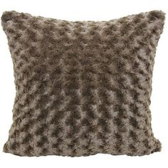 Better Homes and Gardens Rosette Fur Decorative Pillow, Chocolate, Brown