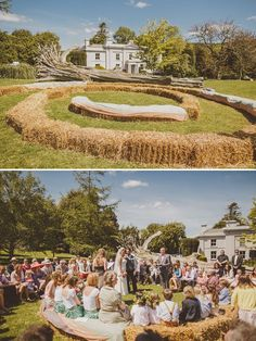. From whimsical chic to rustic chic with this Fun UK Wedding - any wedding that serves fish 'n' chips and Devonshire cream tea delights me (as well as making me an incey bit homesick)…… oh and just you wait until you see their unique aisle and seating!