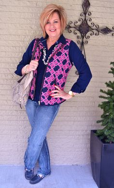 50 Is Not Old | Stepping Into Spring, Puffer Vest | Pearls + Jeans | Fashion over 40 for the everyday woman