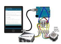 Descripción     PaperStepper(L293D) es un driver de potencia para motores paso a paso bipolares utilizando el chip L293D o el SN754410....