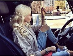 Discovered by ♕ℒuxury ℒady♕. Find images and videos about blonde, car and alena shishkova on We Heart It - the app to get lost in what you love. Alena Shishkova, Love Fashion, Fashion Outfits, Glossy Hair, Beauty Contest, Makeup For Blondes, Russian Models, Favim, Photo Instagram