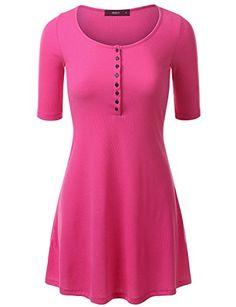 Evening dress 3 4 sleeve henley shirts