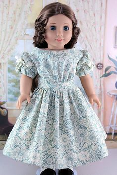 1850's Dress for American Girl Doll Cecile or Marie Grace