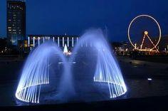 ♥♥♥ les jets d eau du jardin de l Hotel de ville. Le  Havre France