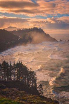Oregon Coast Mist - Near Cape Meares Oregon at sunrise.  image by Darren White Photography - Fine Art Landscapes