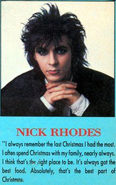 Nick Rhodes. Arcadia Era, 1985.
